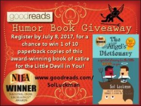 Register to Win 1 of 10 Paperbacks of the Award-winning THE ANGEL'SDICTIONARY